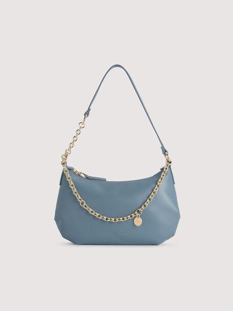 Shoulder Semi-Circle Bag, Blue, hi-res