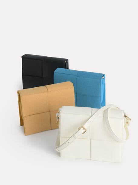 rePEDRO Organic Cotton Mini Boxy Shoulder Bag, Mustard, hi-res