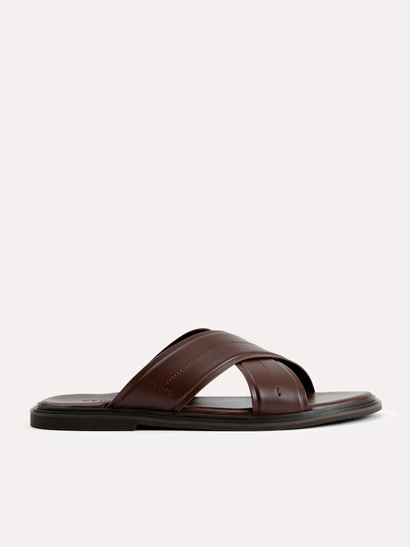 Criss-Cross Sandals, Brown, hi-res