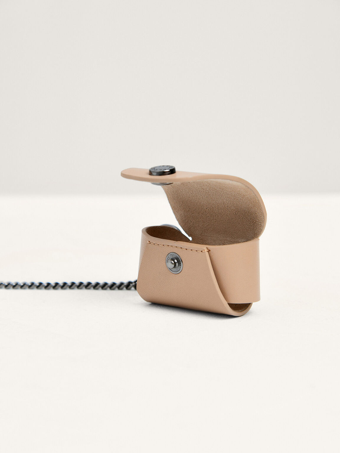 Leather Airpods Case, Taupe, hi-res