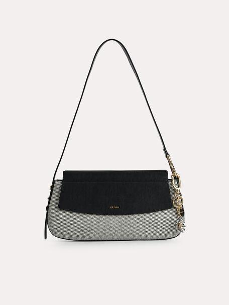 Baguette Shoulder Bag, Black, hi-res