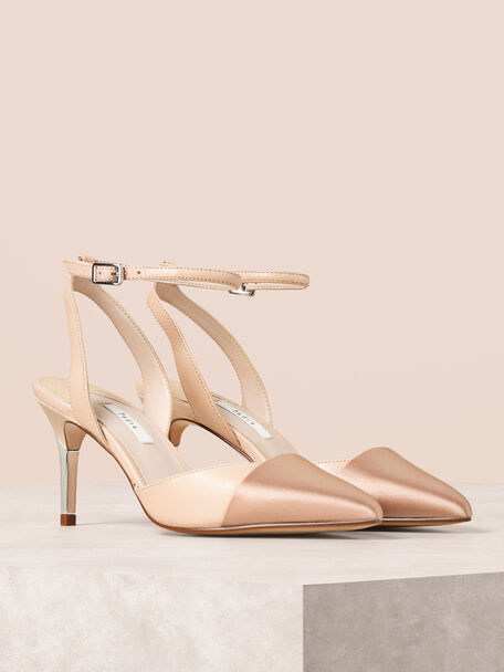 Ankle Strap Heels, Nude, hi-res