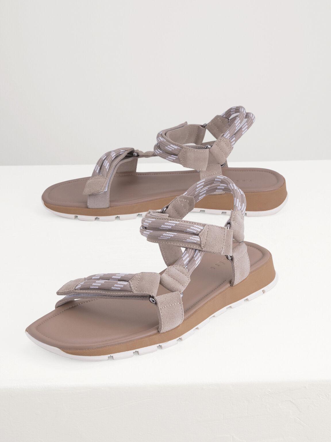 Rope Sandals, Taupe, hi-res