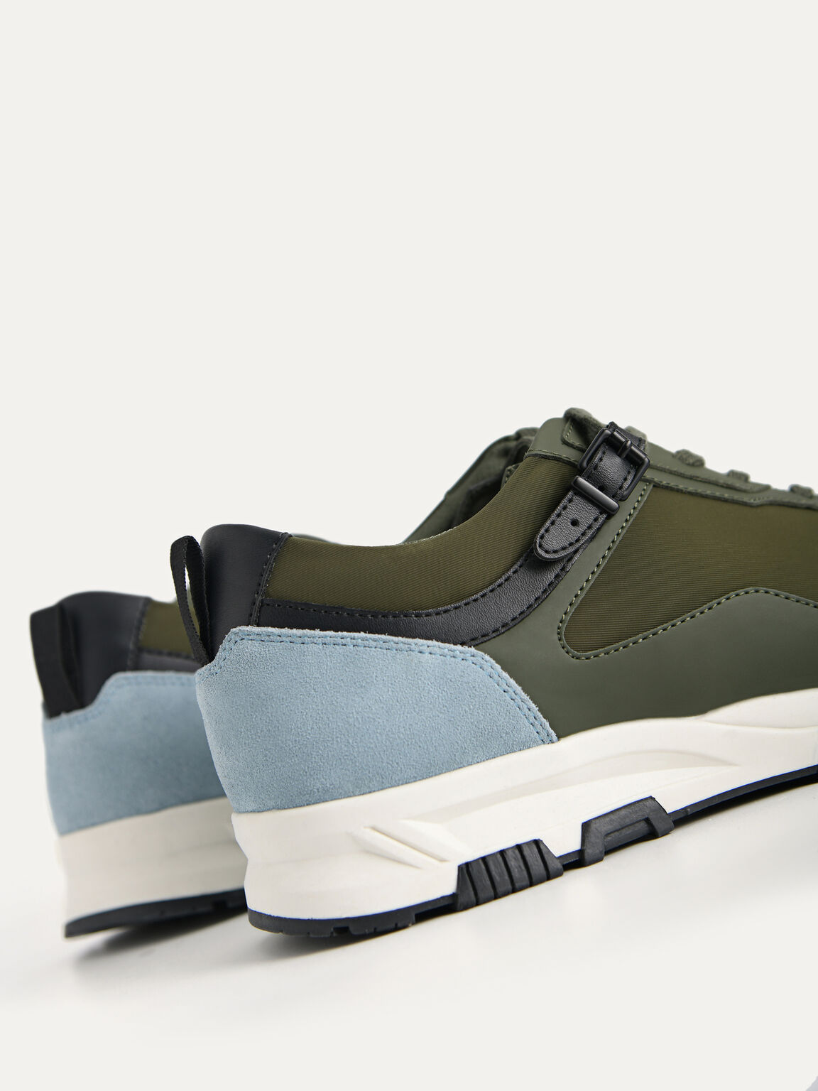 Monochromatic Chunky Sneakers, Military Green, hi-res