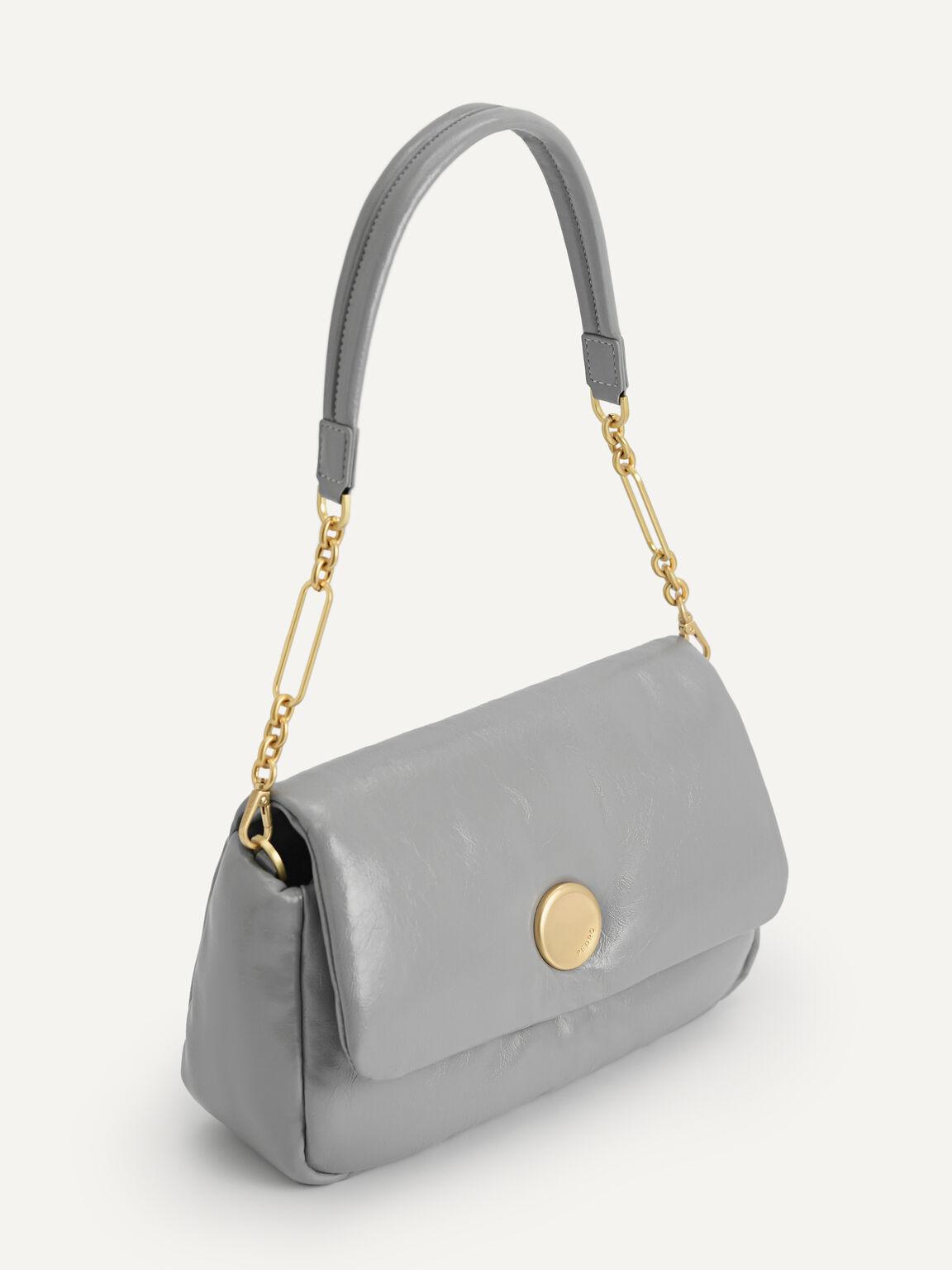 Padded Shoulder Bag, Grey, hi-res