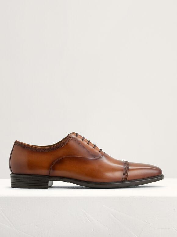 Leather Oxfords, Light Brown, hi-res
