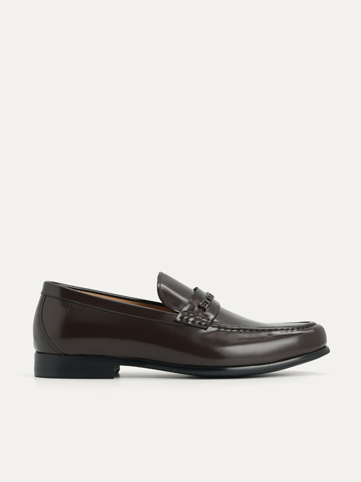 Icon Leather Penny Loafers, Dark Brown, hi-res