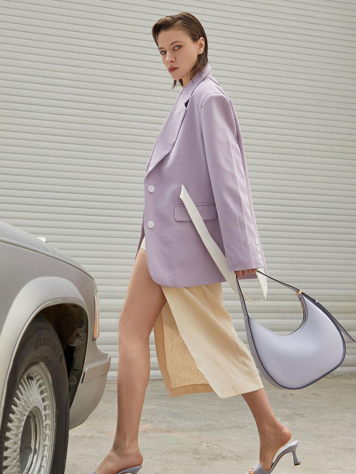 Egg Hobo Bag, Lilac, hi-res