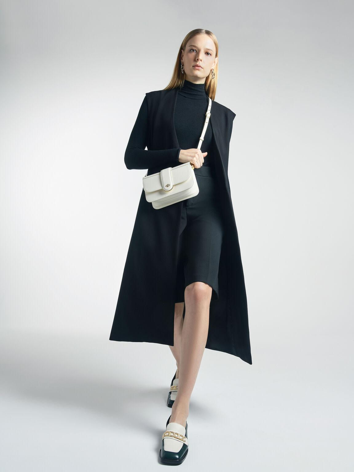 Icon Leather Shoulder Bag, Chalk, hi-res