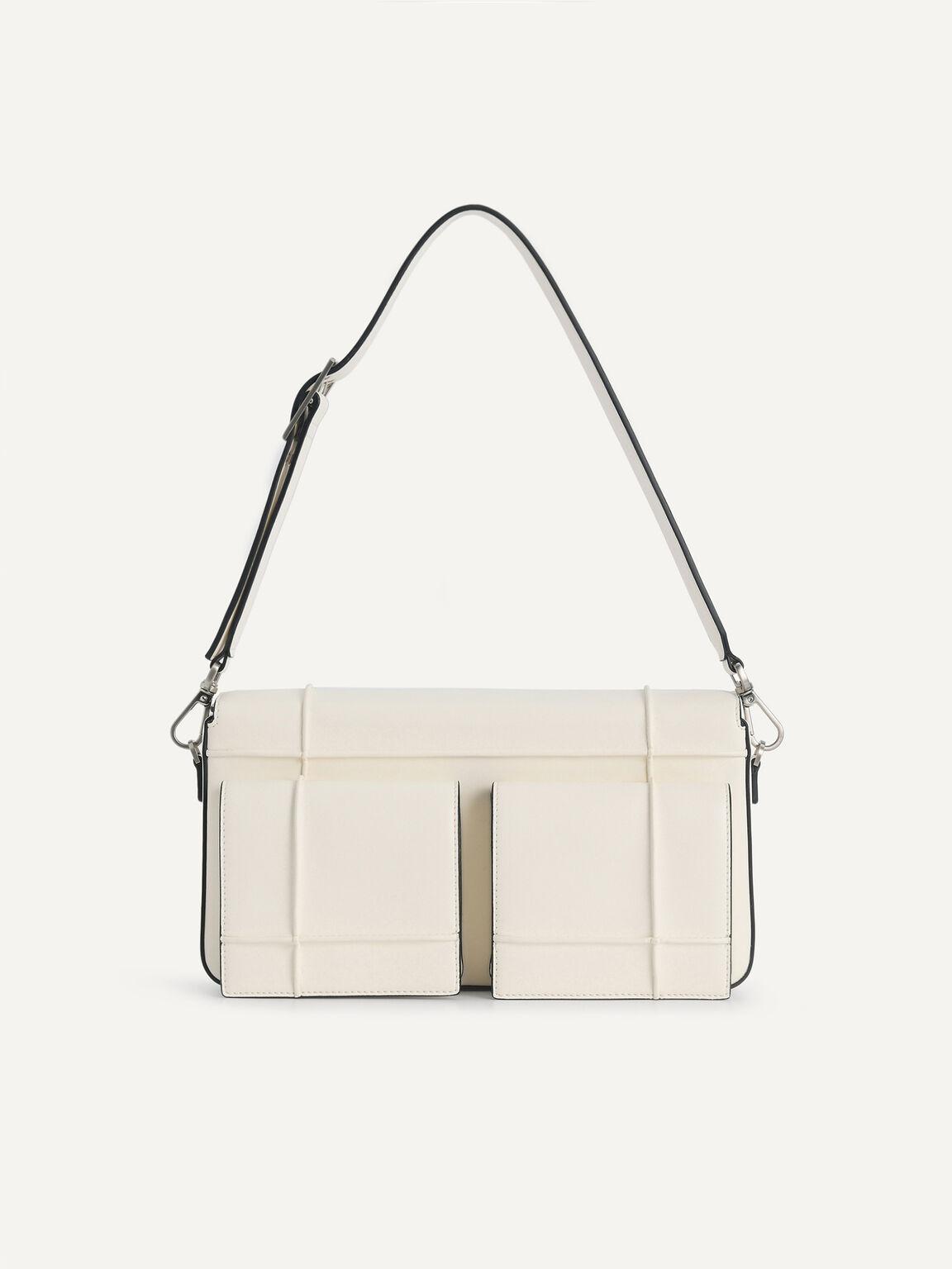 Utility Structured Shoulder Bag, Chalk, hi-res