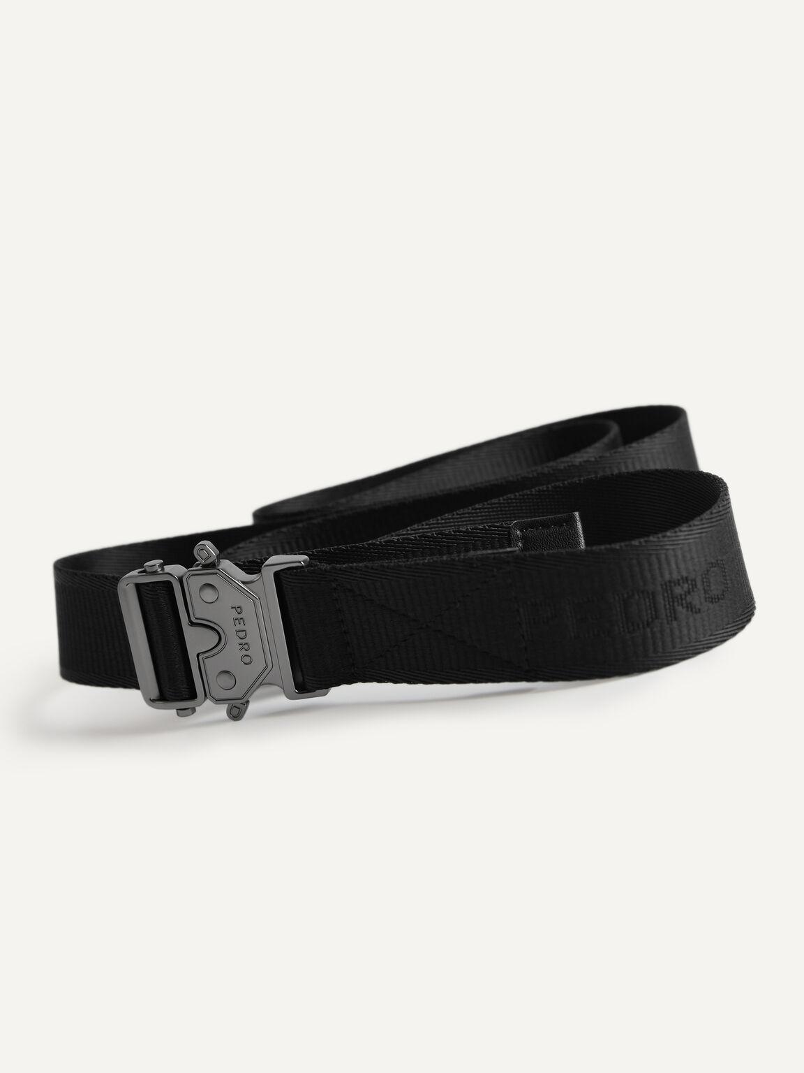 Nylon Buckle Belt, Black, hi-res
