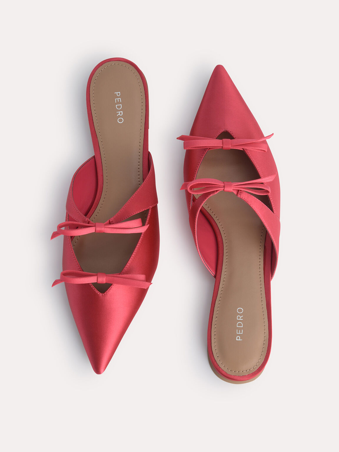 Double Bow Mules, Coral Pink, hi-res