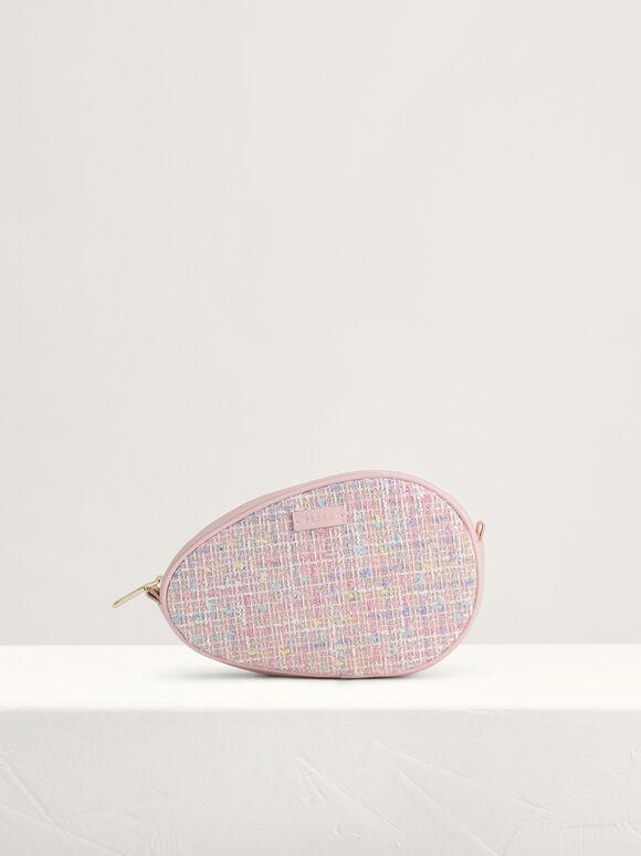 Tweed Shoulder Bag, Pink, hi-res