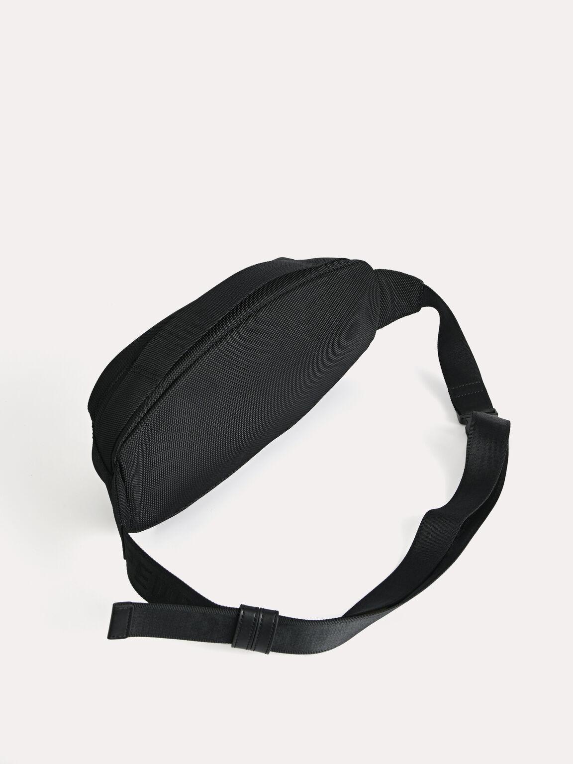 休閒單肩包, 黑色, hi-res