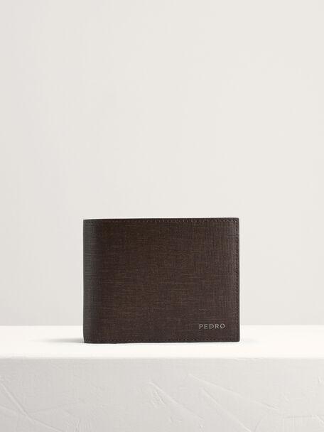 Leather Bi-Fold Wallet with Insert, Dark Brown, hi-res