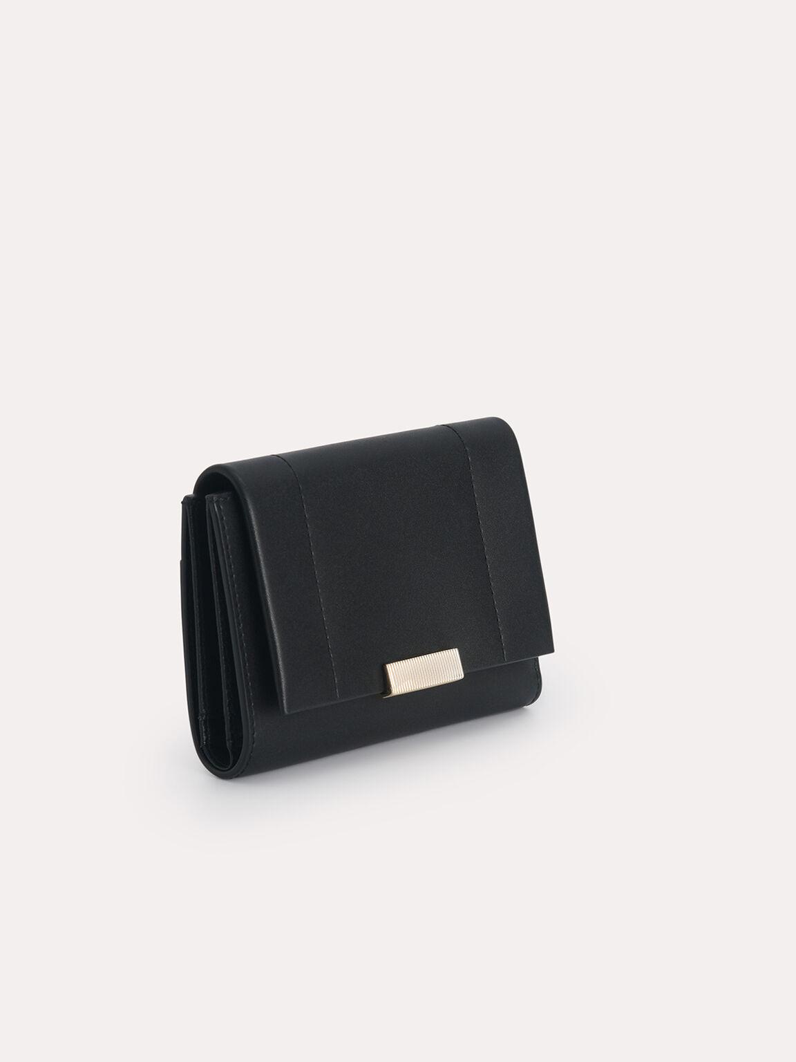 Leather Tri-Fold Wallet, Black, hi-res