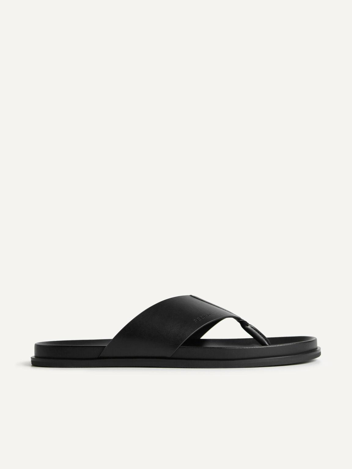 夾趾涼鞋, 黑色, hi-res