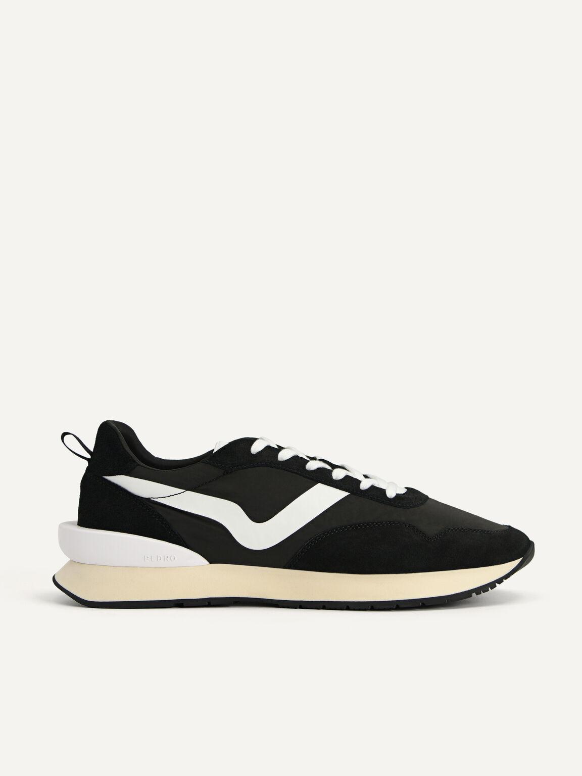 絨面運動鞋, 黑色, hi-res