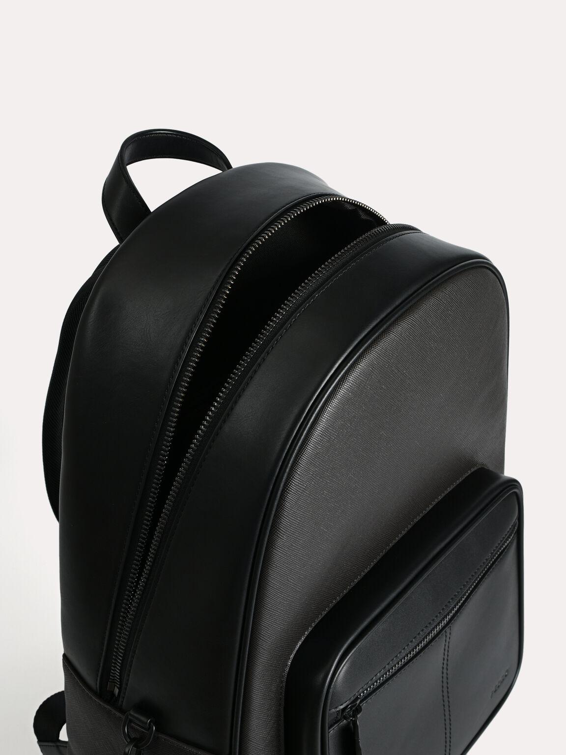 Structured Chain Backpack, Black, hi-res