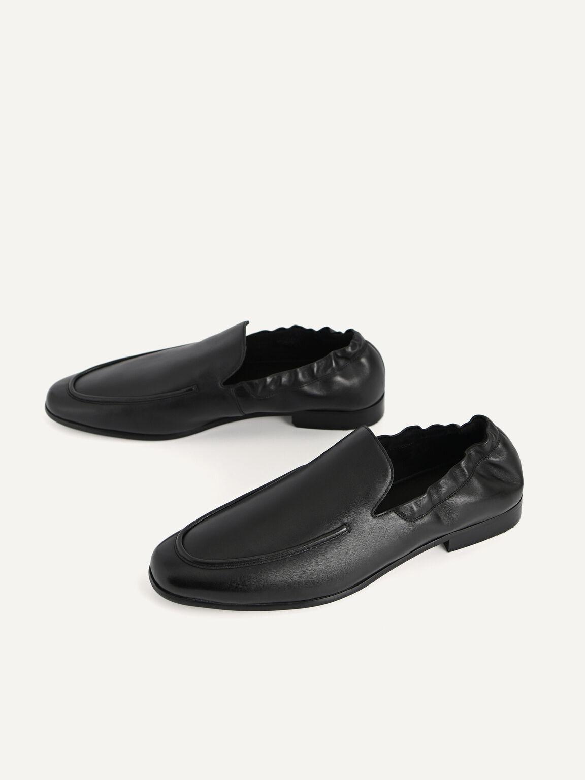 皮革樂福鞋, 黑色, hi-res