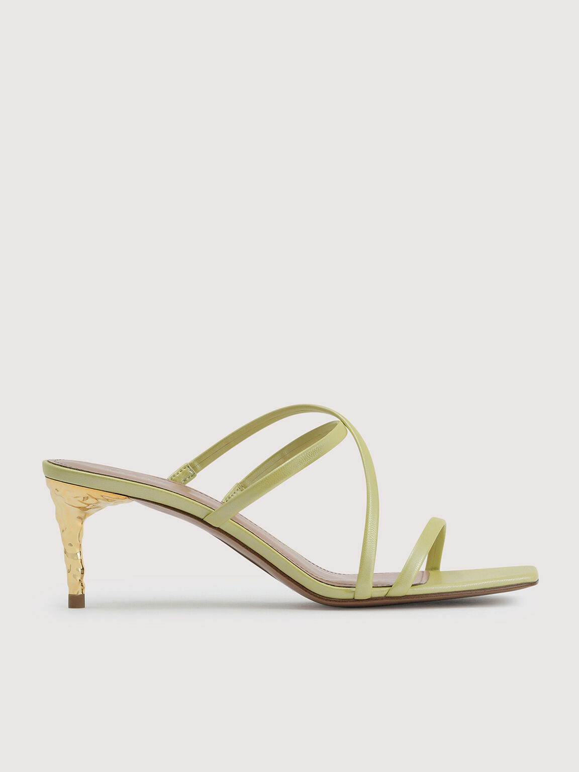 Pearlised Strappy Heel Sandals, Light Green, hi-res