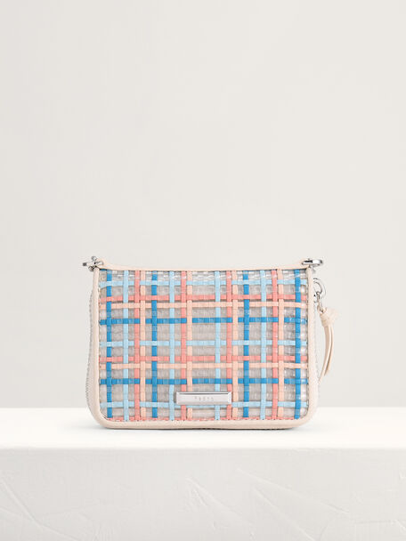 Woven Zip Wallet, Multi, hi-res