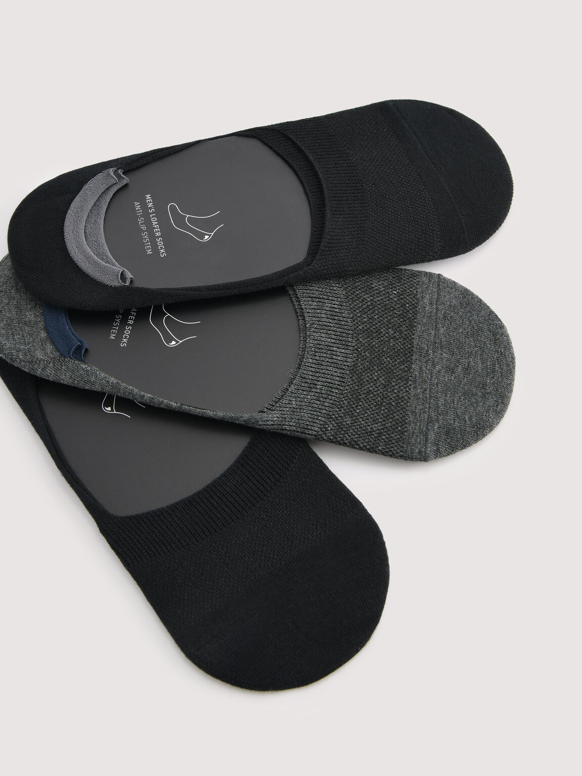 3-pack of Loafer Socks, Multi, hi-res