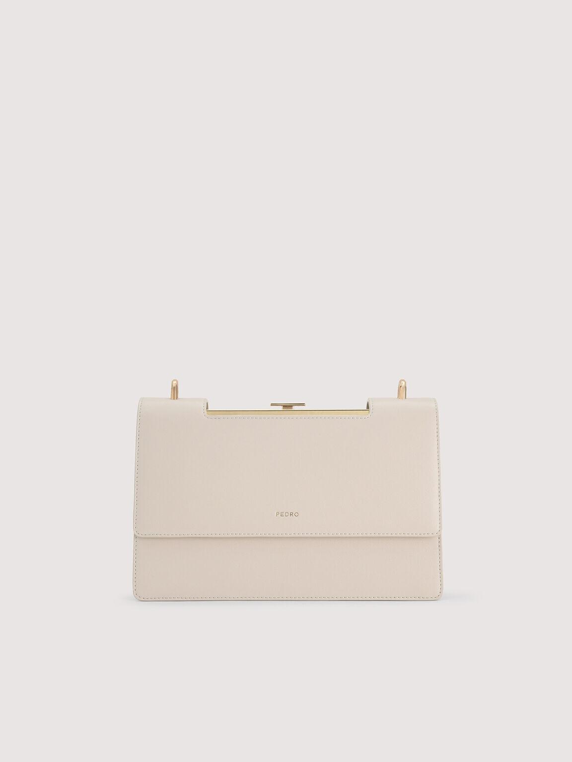 Boxy Shoulder Bag, Cream, hi-res