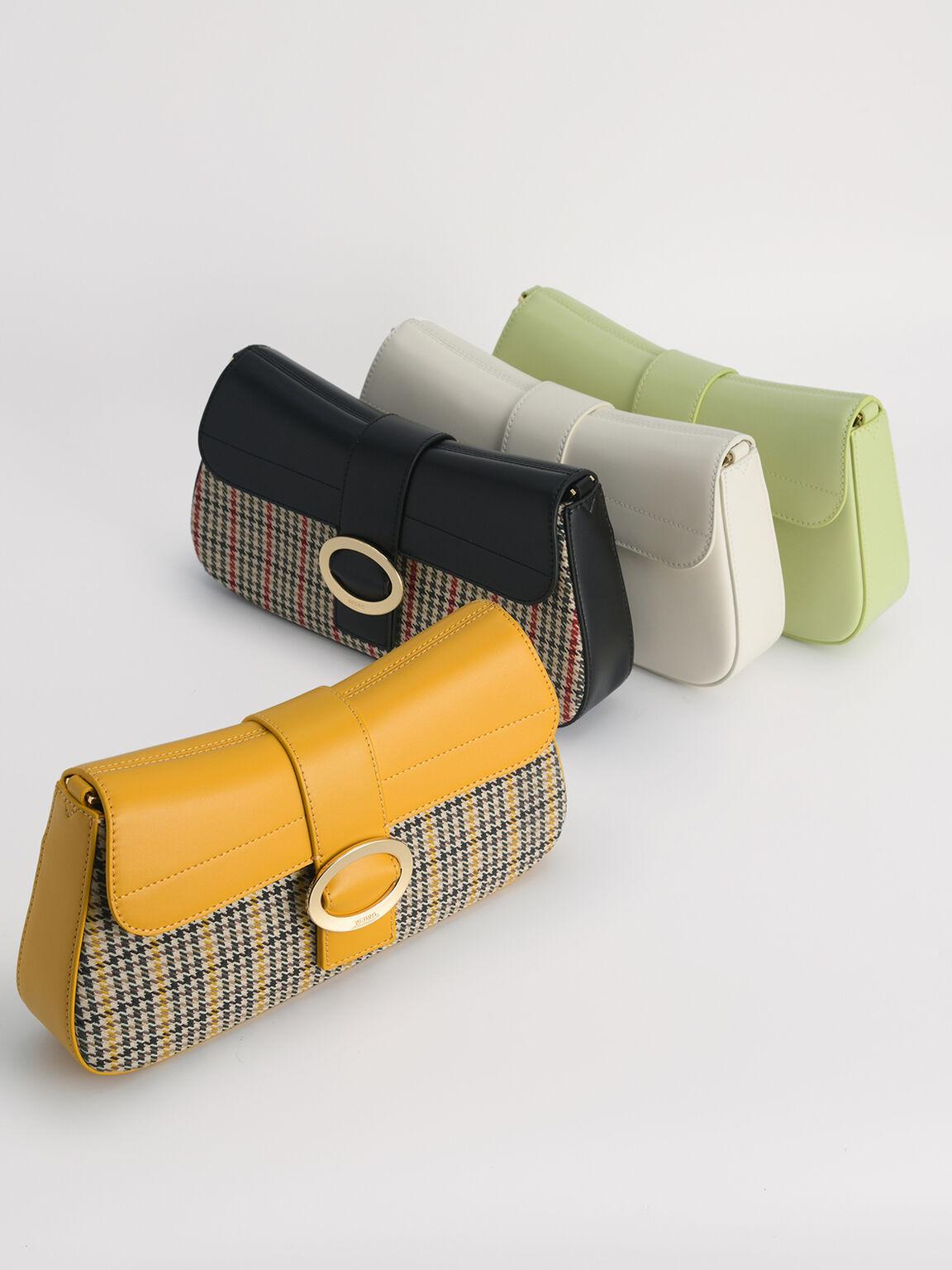 Rectangular Top Handle Bag, Light Green, hi-res
