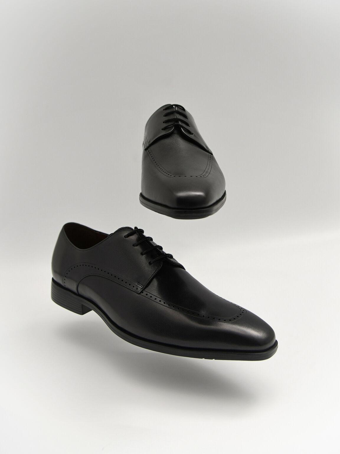 Altitude Leather Brogue Derby Shoes, Black, hi-res