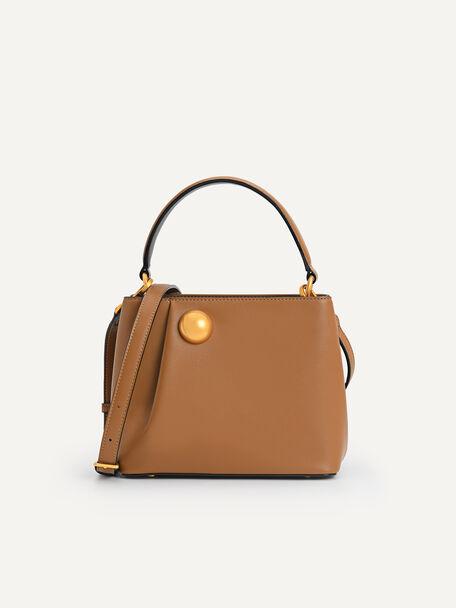 Orb Top Handle Bag, Camel, hi-res