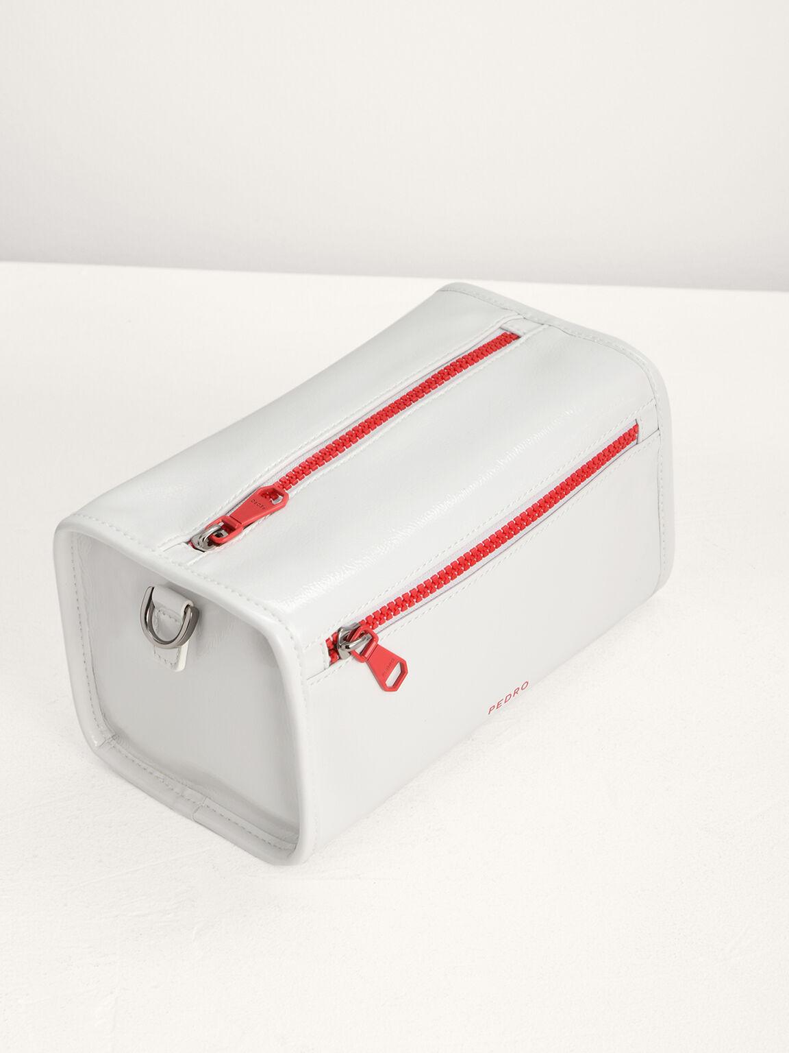 Boxy Sling Bag, White, hi-res