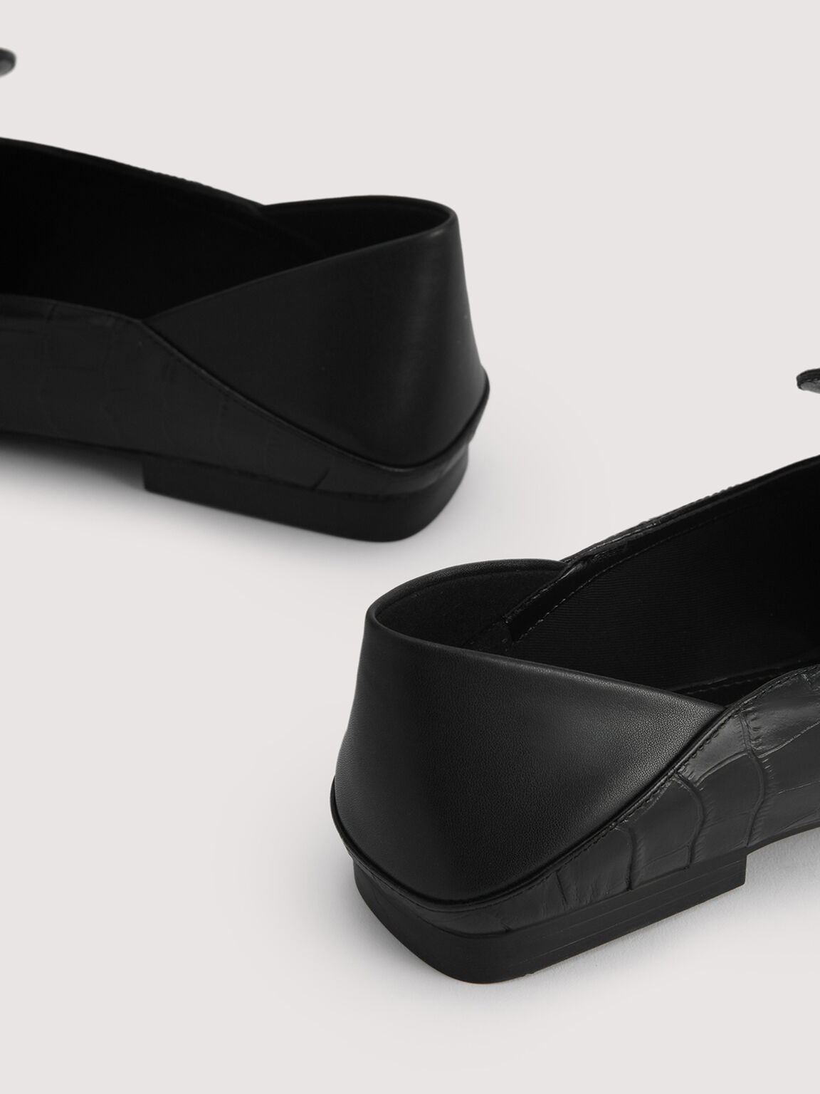 Embossed Leather Loafers, Black, hi-res