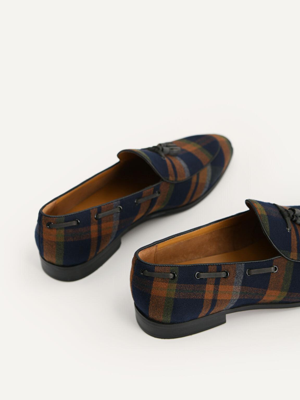 Striped Tasselled Loafers, Multi, hi-res