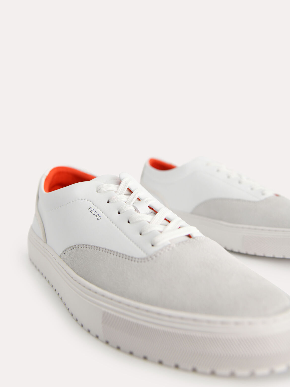 Suede Sneakers, White, hi-res