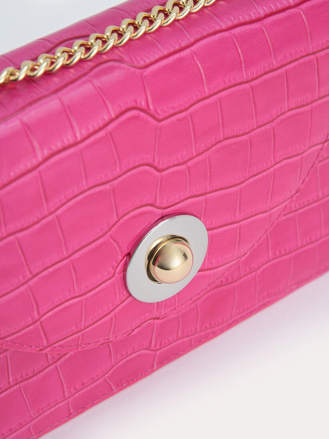 Textured Leather Travel Organisers, Fuchsia, hi-res