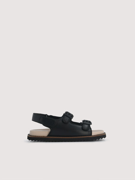 Slingback Sandals, Black, hi-res