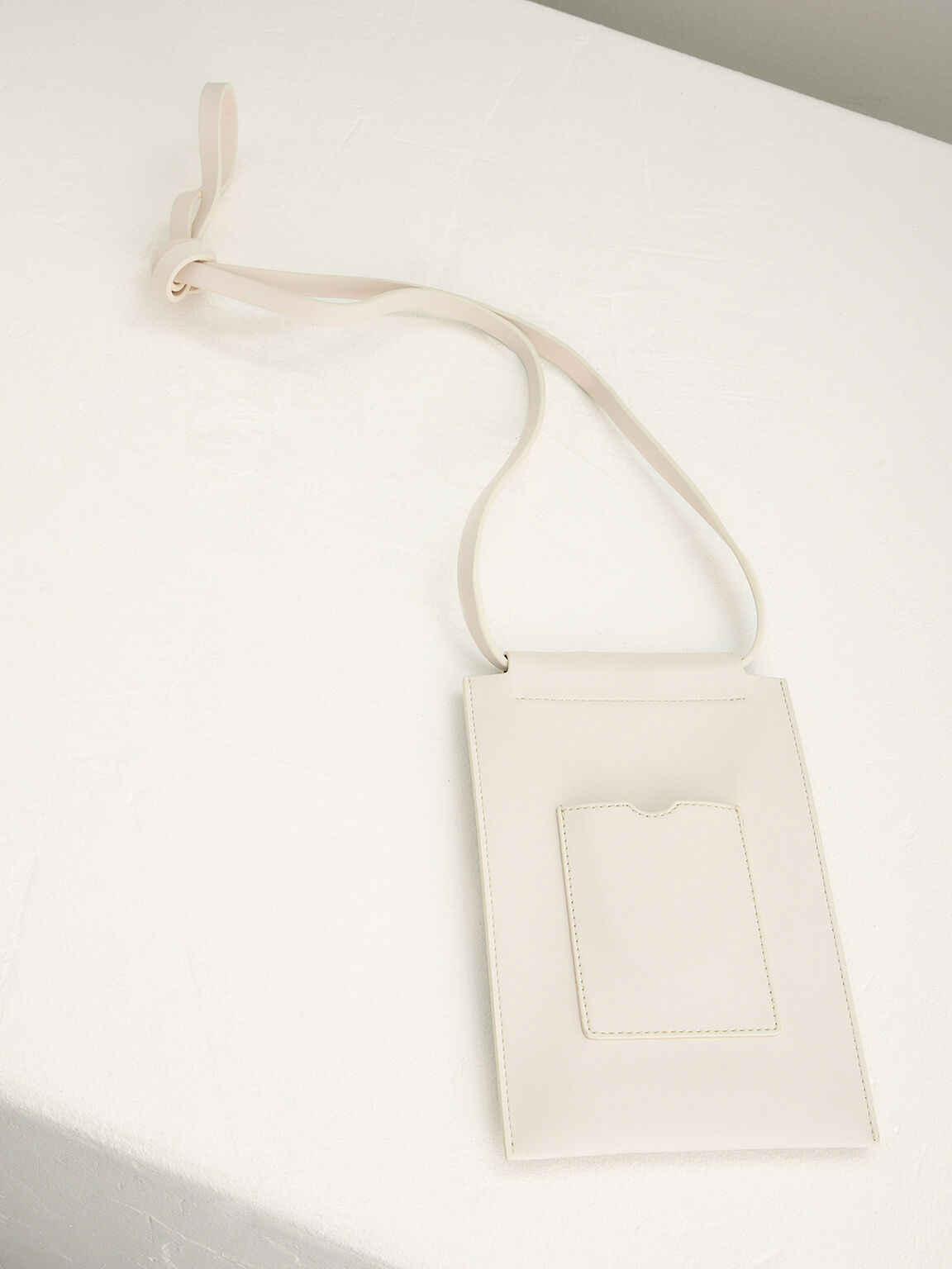 Phone Pouch with Lanyard, Beige, hi-res