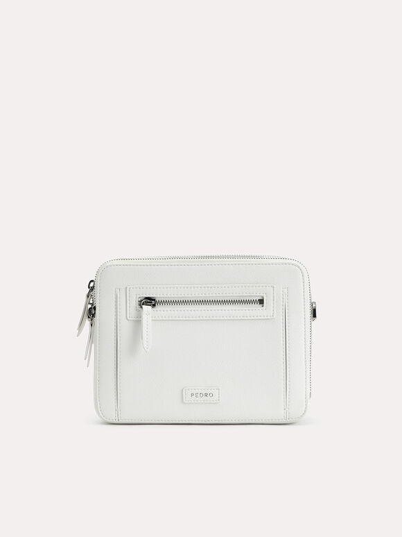 Casual Sling Bag, White, hi-res