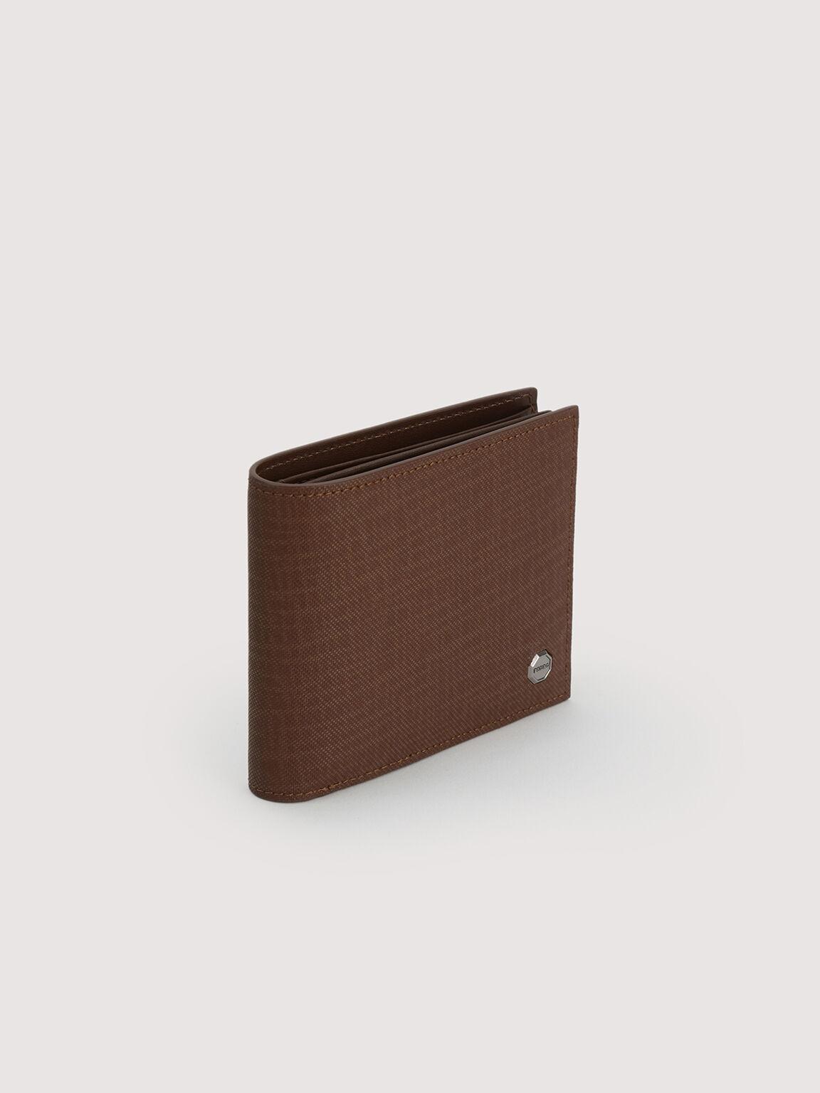 Leather Bi-Fold with Flip, Brown, hi-res