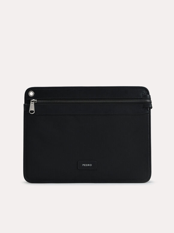 Casual Portfolio with Sunglass Cover, Black, hi-res