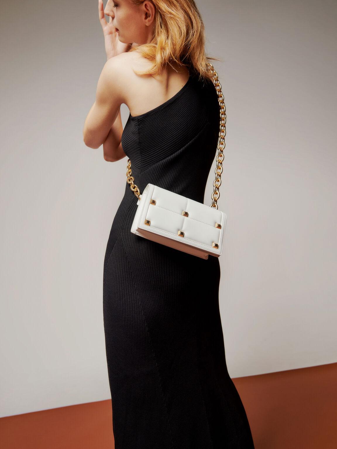 Mini Quilted Shoulder Bag, Chalk, hi-res