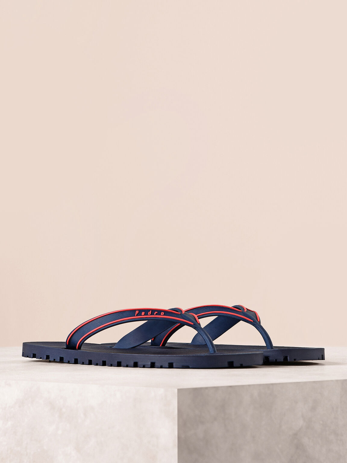休閒夾趾涼鞋, 海军蓝色, hi-res