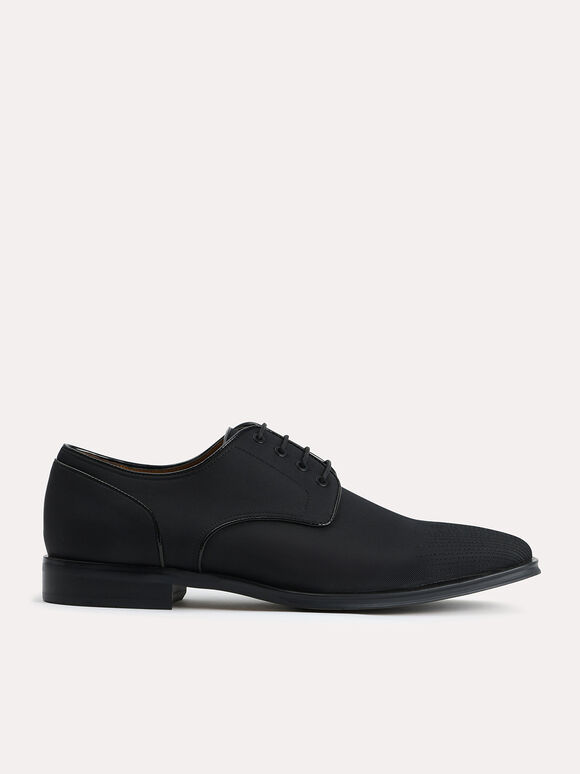 Nylon Derby Shoes, Black, hi-res