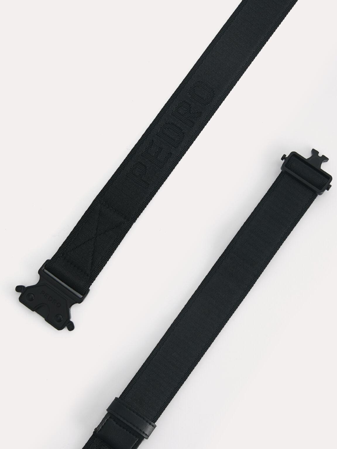 Buckled Utility Belt, Black, hi-res