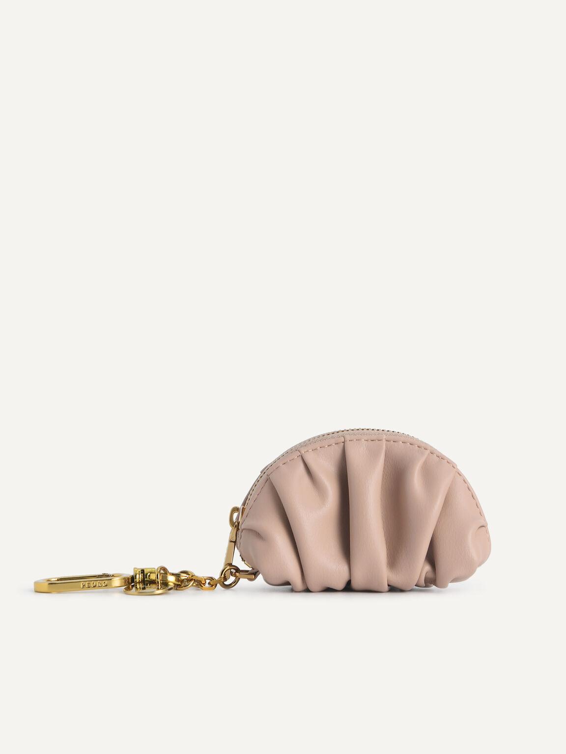 Mini Draped Pouch, Nude, hi-res