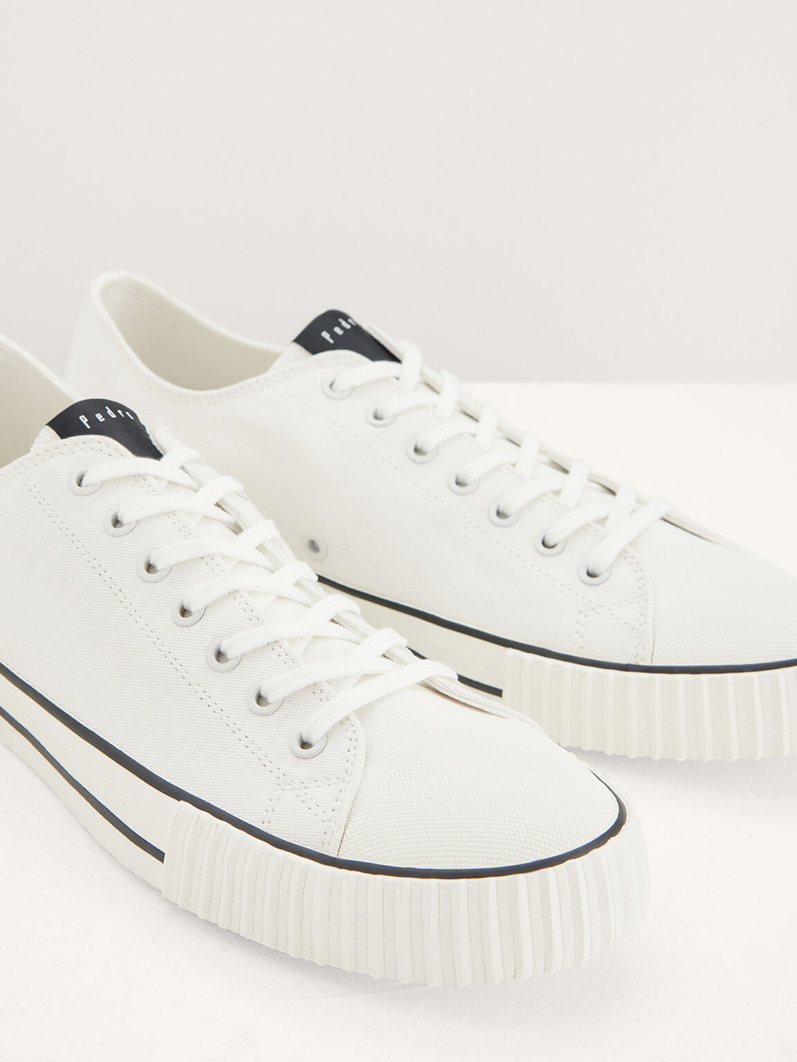Casual Canvas Sneakers, White, hi-res