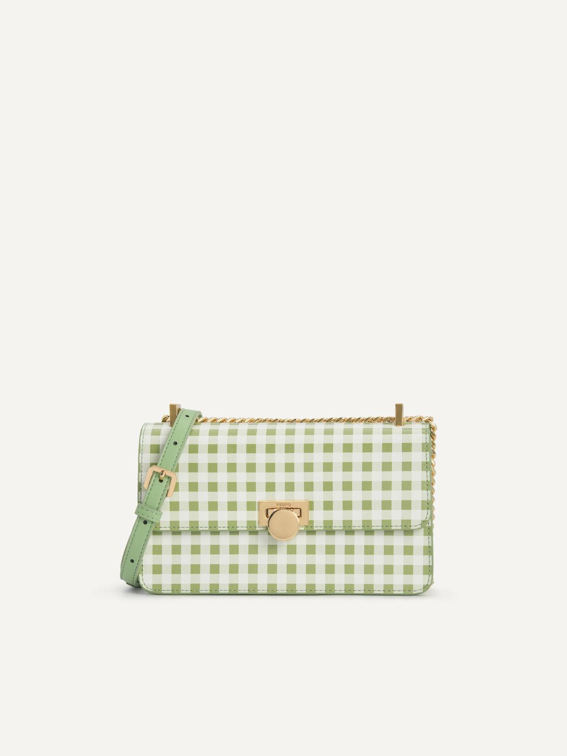 Gingham Shoulder Bag, Multi2, hi-res