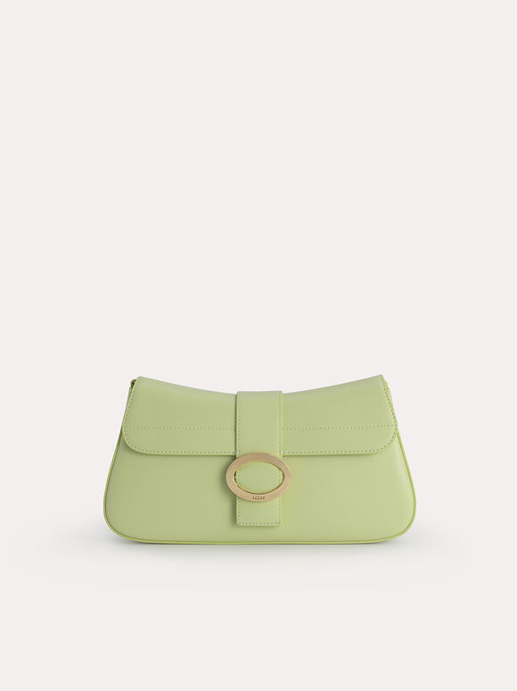 Rectangular Top Handle Bag, Light Green, hi-res