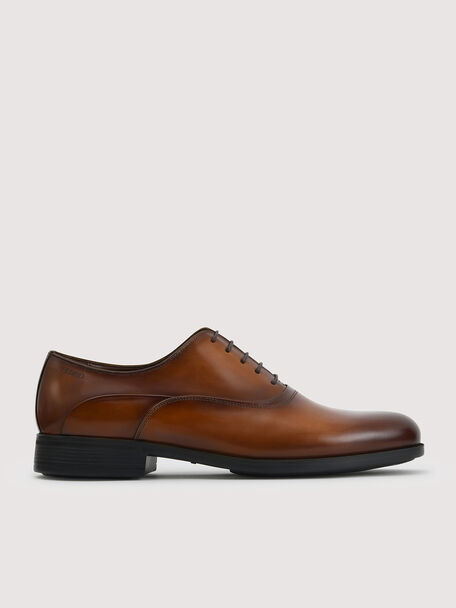 Lightweight Leather Oxford Shoes, Cognac, hi-res